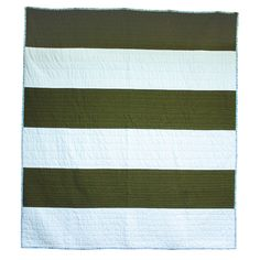 Fort Campbell Army Green Quilt - Modern Quilts - Fort Cotton Quilt Co.