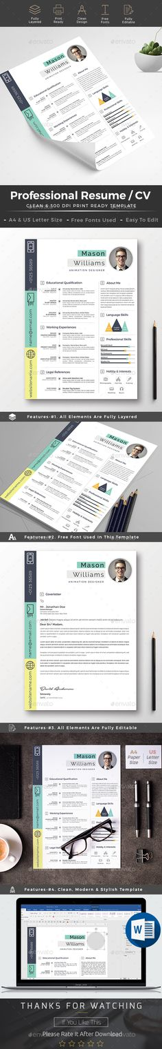 Resume — Photoshop PSD #cover letter #resume template • Download ➝ https://graphicriver.net/item/resume/19462506?ref=pxcr
