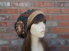 Womens Boho Hat Granny Square Hat Slouchy Beanie Slouch Hat Brown Blue Rust Colors Autumn Fashion Autumn Hat? She will custom make these hats for you also! I bought this one and she made me another just like it in black. Love them! Well made!