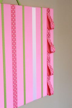 Hot Pink Hair Bow Holder Accessory Board w/ Headband Loops. $22.99, via Etsy.
