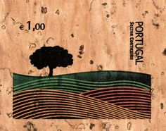 Stamp made of cork - Portugal, 2007