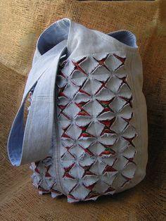 японская сумка в технике синель