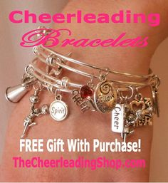 These Cheerleading Bracelets Are So Gorgeous And For A Limited Time Include Free Gift With