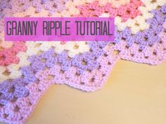 Tutorial for the Granny Ripple/ Chevron blanket. In UK terms with US references. Tutorial suitable for all abilities. Please use beginner videos for step by ...
