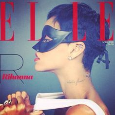 Masked beauty Rihanna to be on the cover of ELLE! #rihanna #music #magazine #cover #beauty #style #elle #missmasquerade