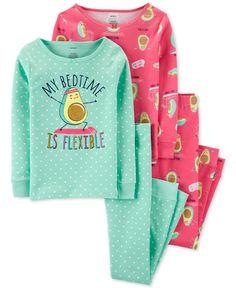 Amazing offer on Carter's Girls' Snug Fit Cotton Pajamas PJs online - Topniftyfashion Carter Kids, Unisex Baby Clothes, Girls Pajamas, Cotton Pyjamas, Girls 4, Baby Girls, Leggings Are Not Pants, Snug Fit, Pajama Set