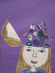 Lines, Dots, and Doodles: Whats in Your Brain? (Portraits), 3rd Grade