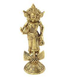 Dokra Goddess Saraswati. The Goddess of Learning.