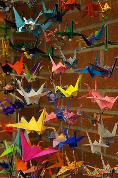 Paper cranes for Newtown, CT by Pima County Public Library, via Flickr