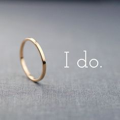 Polished Finish Solid 14k Gold Wedding Band by LilyEmmeJewelry, $149.00 ( only I'm going to put my favorite Disney love quote on it ).