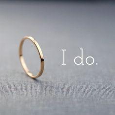 Polished Finish Solid 14k Gold Wedding Band Medium Band Alternative Wedding Ring Sizes 4-12 / Recycled Eco Friendly Ethical