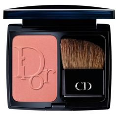 Dior Cocktail Peach Diorblush Vibrant Color Powder Blush ($43) ❤ liked on Polyvore featuring beauty products, makeup, cheek makeup, blush, cocktail peach, christian dior, powder blush and blush brush
