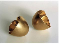Nothing III, Series 2, 2004 18 karat gold cast of goose eggshell 2-1/2 x 5 x 2-1/2 inches