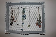 necklace organizer great idea for a teen room
