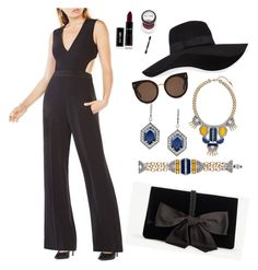 """""""Deco-rate yourself with the look of the century, with our stunning Grand Cabaret collection and strong lines with a pop of bold color! Plus this jump suit pairs perfect!"""" by tinja-anderson-mitterling on Polyvore featuring Ann Taylor, BCBGMAXAZRIA, San Diego Hat Co. and STELLA McCARTNEY"""