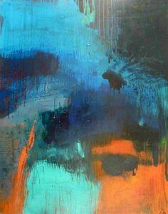 Alice Achen grand bleu 146 cm X 114 cm