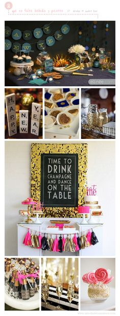 5 Funny Ideas for a New Year Eve Party at home // Drinks & Sweet Bar    5 Divertidas ideas para una Fiesta de Nochevieja en casa // Candybar y Barra Libre Nochevieja