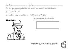 FICHAS PROYECTO: LUCES, CÁMARA Y ACCIÓN!!!! Cinema, Actors, Comics, Memes, School, Sabela, Google, Lights Camera Action, Silent Film
