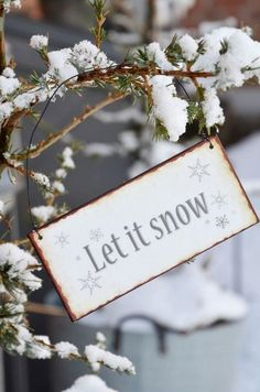 let it snow winter sign - nice also to decor a winter wedding