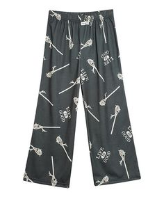 Take a look at this Dark Gray Lacrosse Pajama Bottoms - Toddler & Boys by Life is good® on #zulily today!