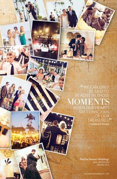 Amanda and Tims wedding in Martha Stewart Weddings Amanda und Tims Hochzeit in Martha Stewart Hochzeiten Gorge Event Styling ♡ Collage Foto, Photo Collage Design, Yearbook Layouts, Yearbook Design, Yearbook Ideas, Martha Stewart Weddings, Magazin Design, Buch Design, Wedding Posters