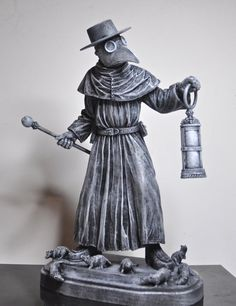 Plague Doctor Statue by Dellamorteco on Etsy, $60.00