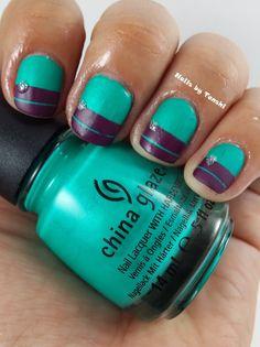 Turned Up Turquoise by #ChinaGlaze Nails by Tenshi: Reto Tipos de Esmaltes: Semana 6 - Mate/Satinado