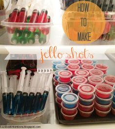 Jello shot recipe - add a little sugar to cut out the alcohol taste