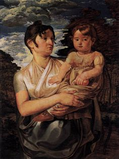 The Artists Wife and Son by Philipp Otto Runge, 1807, Romanticism #PadreMedium