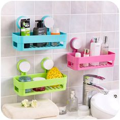 Simple life Suction cup bathroom shelf basket rack wall hanging wall shelf storage shelf bathroom accessories - ICON2 Luxury Designer Fixures  Simple #life #Suction #cup #bathroom #shelf #basket #rack #wall #hanging #wall #shelf #storage #shelf #bathroom #accessories