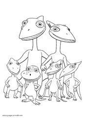 Dinosaur Train Coloring Picture