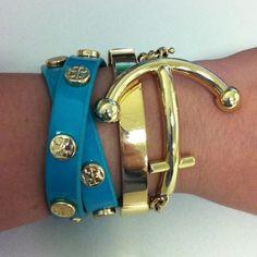 Bracelets: Tory Burch, Michael Kors, Kate Spade