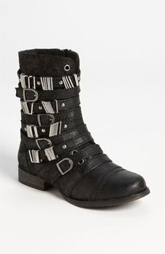 These are screaming late 80's!  gotta have these!    Steve Madden 'Tyrantt Buckles' Boot available at #Nordstrom
