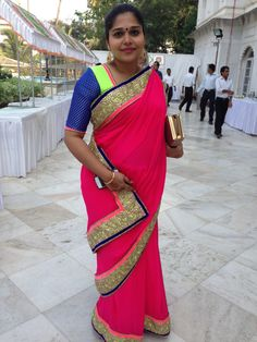 a pregnant me with the sari that i got made for my friend's wedding