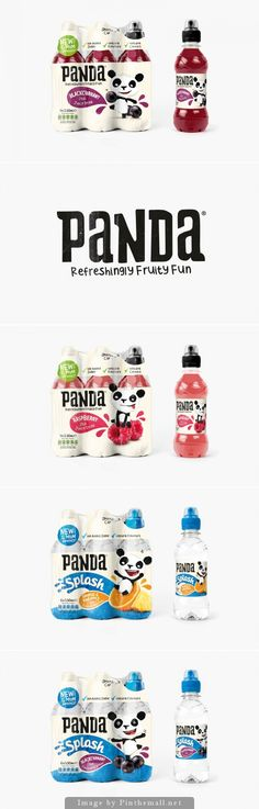 How cute is Panda soft drink #packaging PD