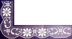 crochet em revista: Pontas Filet Crochet, Crochet Borders, Crochet Art, Learn To Crochet, Crochet Stitches, Crochet Patterns, Crochet Dollies, Lace Making, Bargello