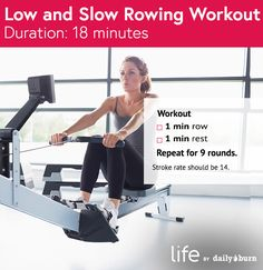 Low and Slow 18-Minute Rowing Workout