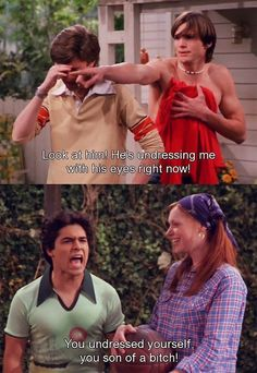"Oh, Fez!  Love when he says ""You son of a bitch!"" and ""I said good day!"""