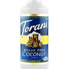 Torani Sugar Free Coconut Syrup 750 mL This one has been the most popular in my house! Canadian company and fast shipping!