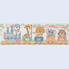 Train Birth Sampler - handwerkpakket met telpatroon Coats Crafts