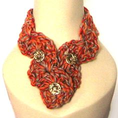 Rust & Scarlet Alpaca Scarflet Headband
