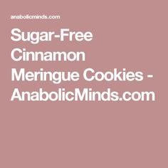Meringues are a great light and airy treat but they are made with a ton of sugar. This recipe makes meringues without the sugar and carbs and allows for a touch of sweetness using stevia instead. Sugar Free Cookies, Sugar Free Desserts, Meringue Cookies, Atkins Diet, Stevia, Ketogenic Diet, Cinnamon, Low Carb, Treats