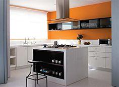 cozinhas com pastilhas laranjas - Pesquisa Google
