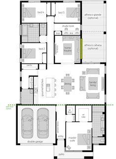 New House Plans, Dream House Plans, Mcdonald Jones Homes, Sims House, Future House, Living Area, Facade, New Homes, Floor Plans