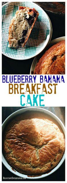 Blueberry Banana Breakfast Cake