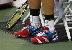 Tennis!   (Andy Roddick with Babolat's Team-USA footwear)