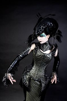 Steel boned Corset made with snakeskin faux by ImaginariumApparel, $830.00