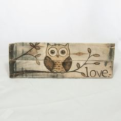 Owl decor Nursery art Nursery decor Owl painting by SimplyPallets