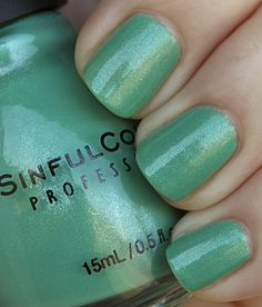 "Sinful Colors ""Mint Apple"" PS: Sinful Colors Nail Polishes are now 99 cents at Walgreens for a limited time! Stock up now! :)"