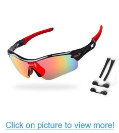 aa6dc91d464b5 Amazon.com  H oter Nlite Vogue 5 Lens Combo Cycling Bike Sports Color Sun  Glasses, 13 Colors 4 Choose  Sports   Outdoors
